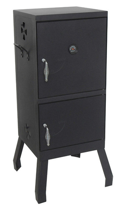 Black bbq charcoal smoker grill with air damper