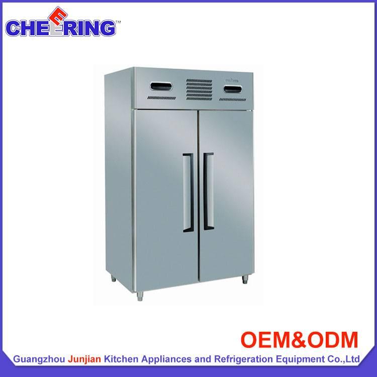 Double-temperature foob grade stainless steel upright fridge refrigerator