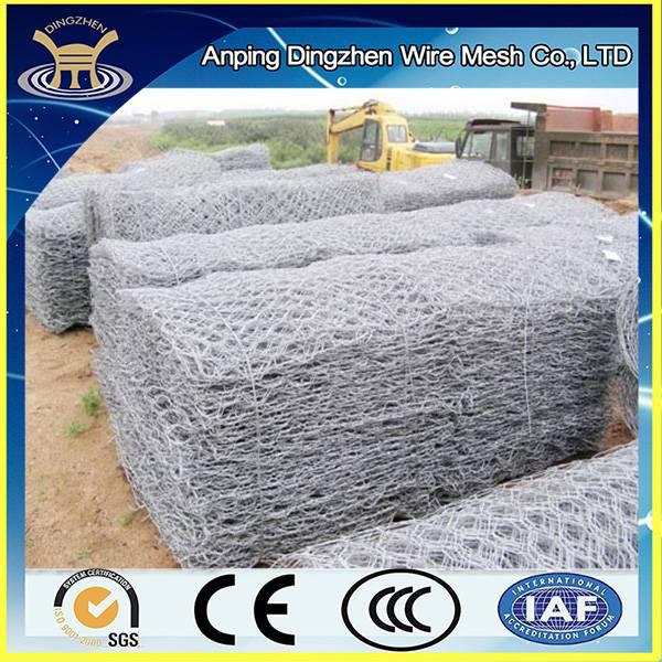 hot sale pvc coated / galvanized hexagonal gabion wrie mesh