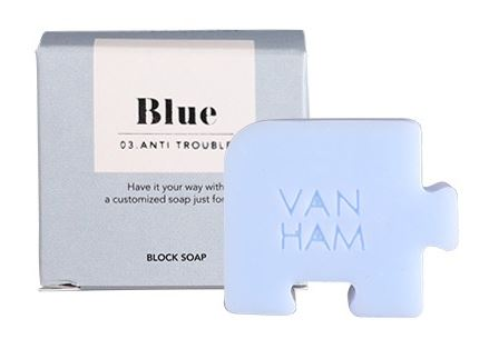 natural VANHAM anti-trouble cleansing soap from South Korea