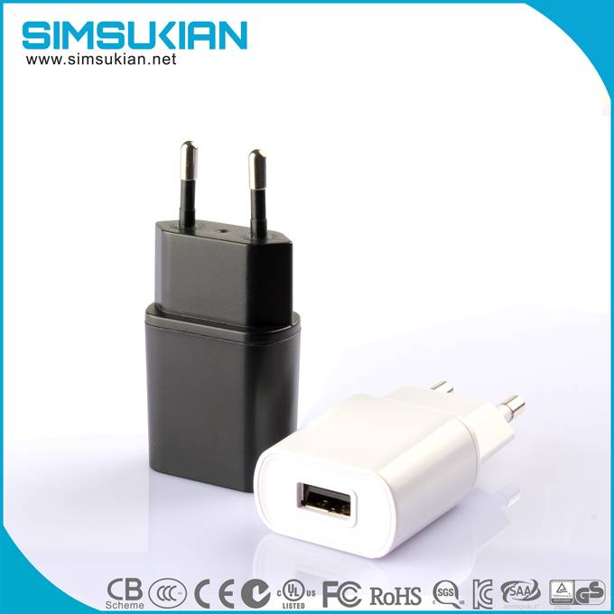 KC marked 5v 0.5a 1a 1.5a ac dc wall munt power adapter