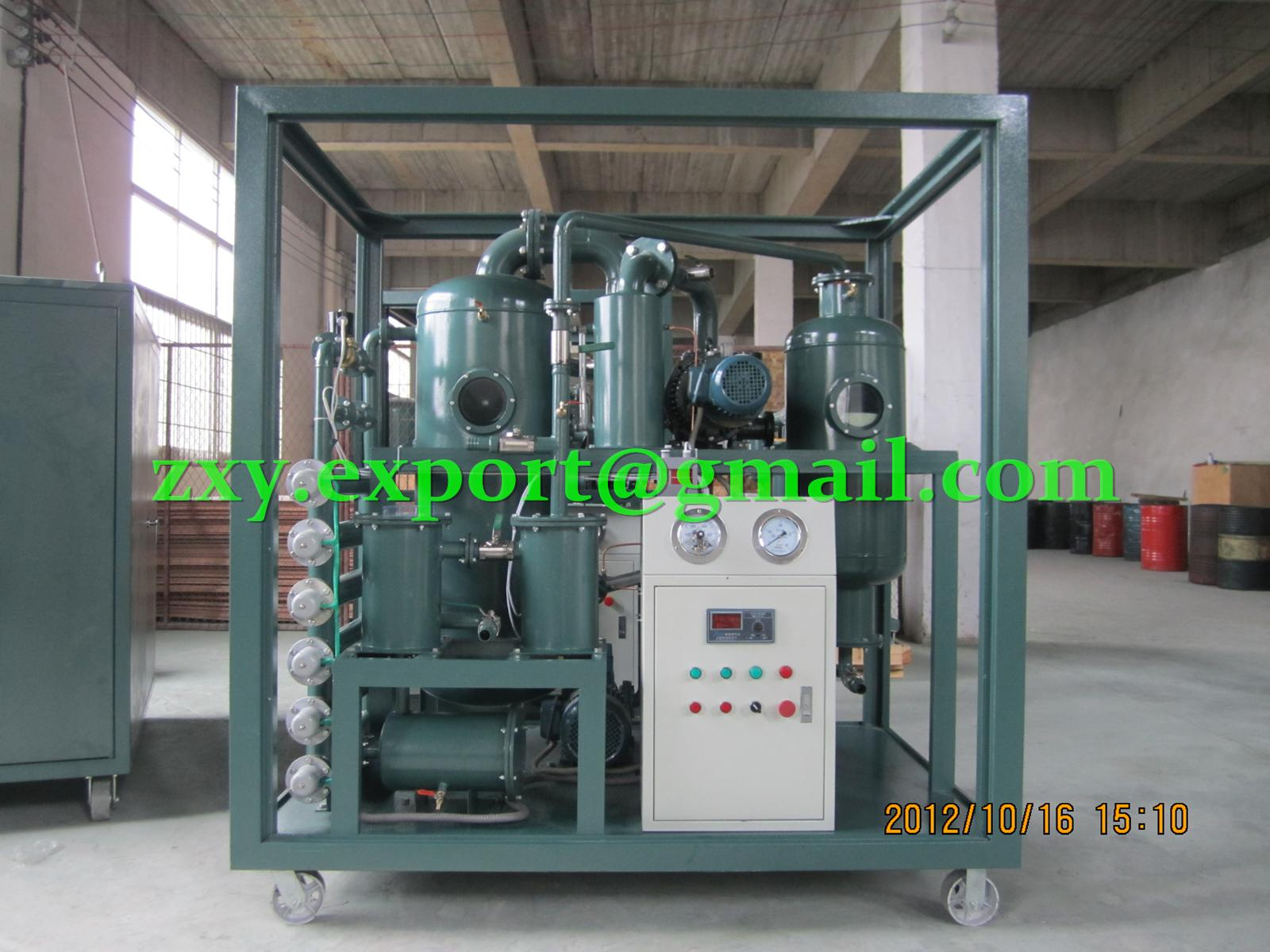 50LPM Double-Stage Extra-High Vacuum Transformer Oil Filtration and Regeneration Plant