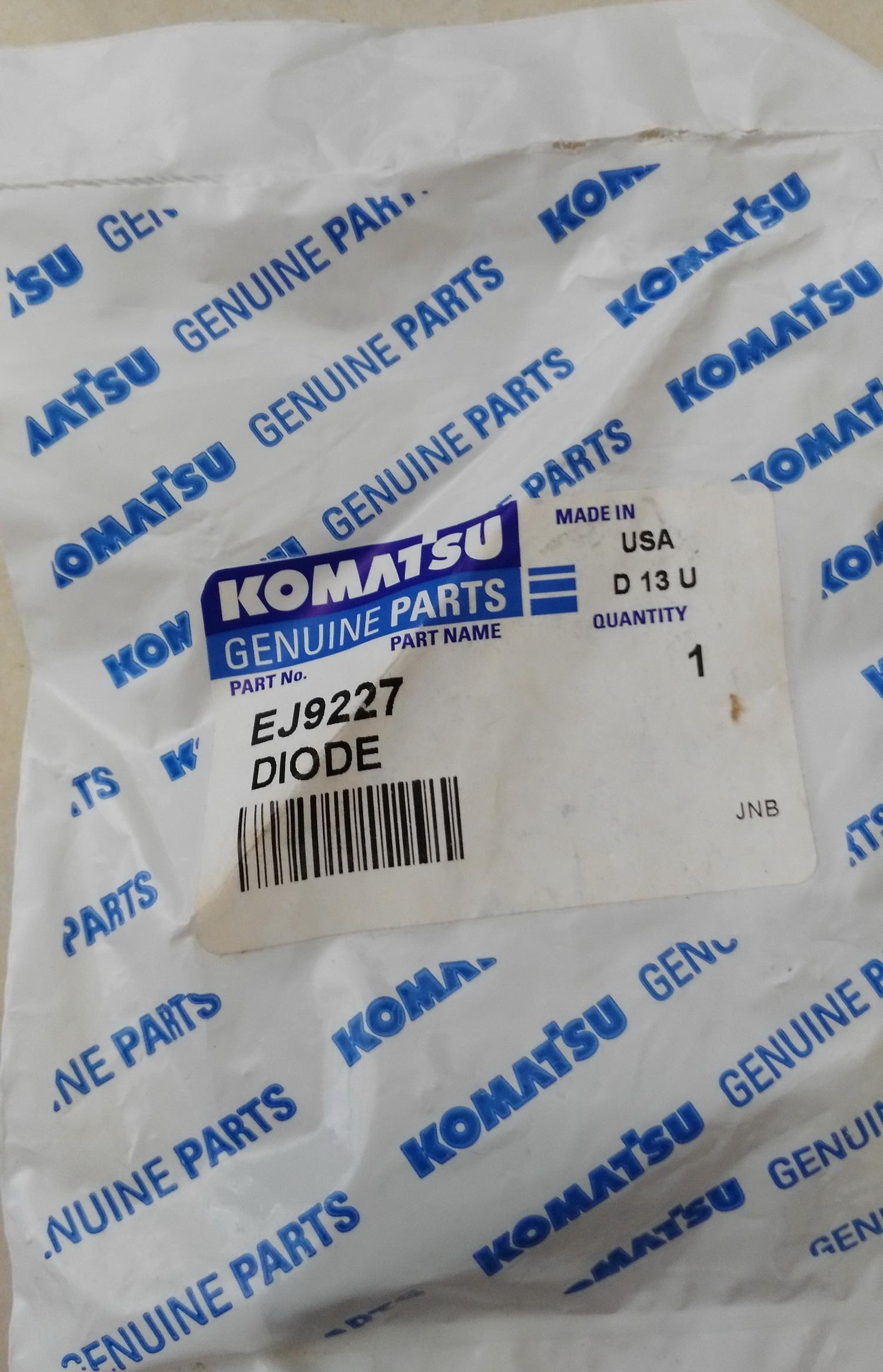 komatsu EJ9227 diode harness