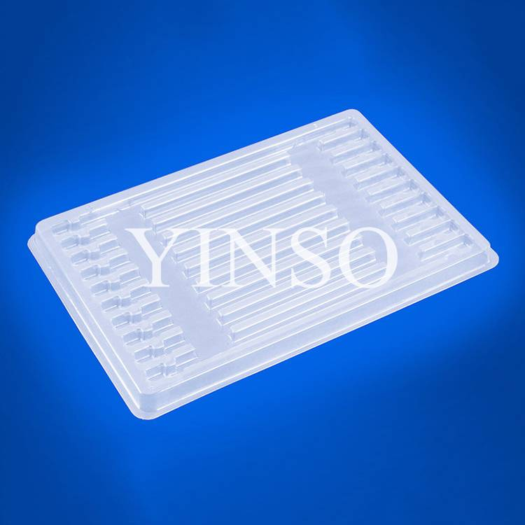 OEM thermoforming White PP blister packaging tray