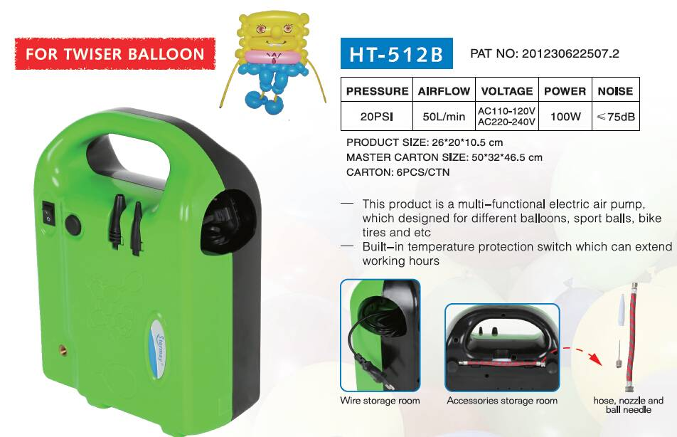 HT-512B, ELECTRIC BALLOON PUMP