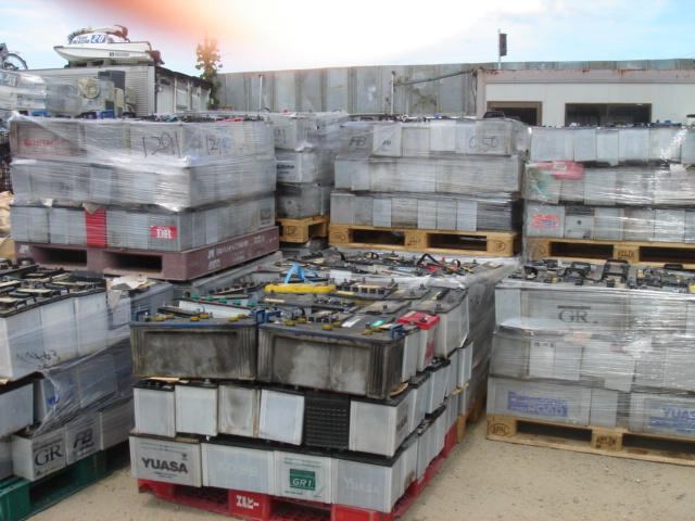 Dry Drained Lead Acid Battery Scrap, ISRI RAINS price $345/MT