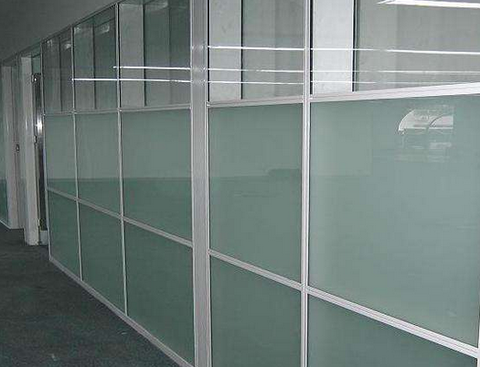 SGCC CE certification of acid etched glass partition,glass railing