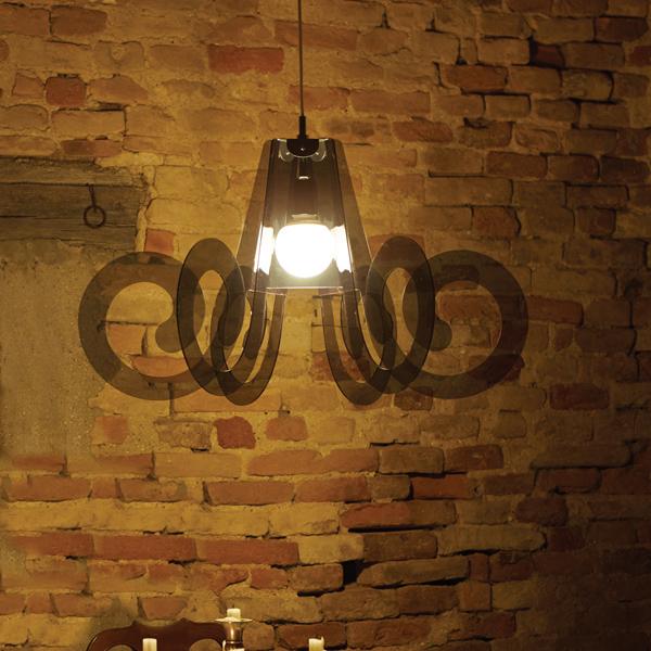 Methacrylate Suspension Lamp Ricciolo Italian Lighting Design