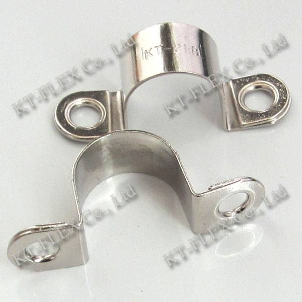 Flexible double ear pipe clamp