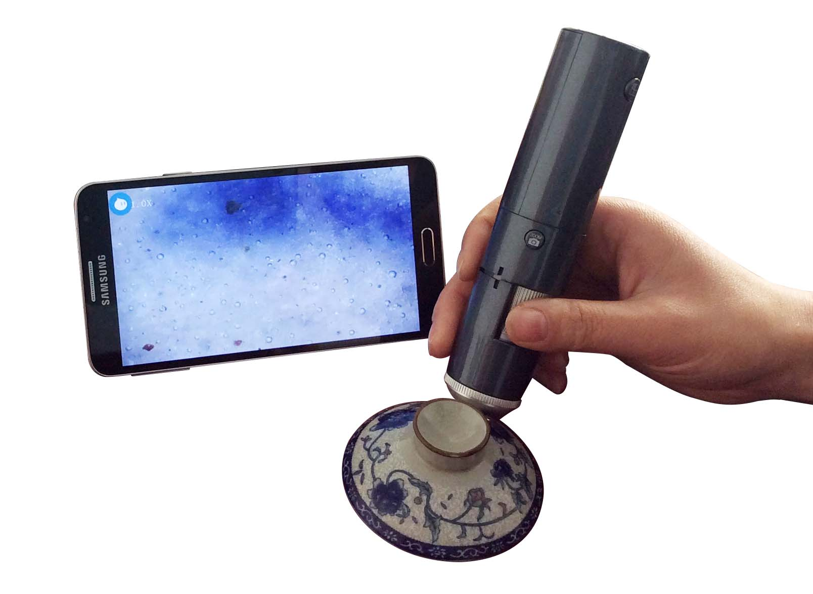 Wireless digital microscope, wireless access phone Tablet PC