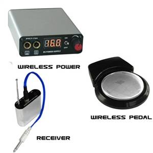 Wireless Power Supply comes with Power Supply, Wireless Pedal,Receiver