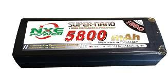 NXE5800mAh-100C-7.4V Hardcase RC Car Battery