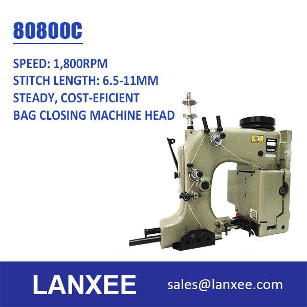 Lanxee 80800C Single Needle Double Thread Chain Stitch Bag Sewing Machine