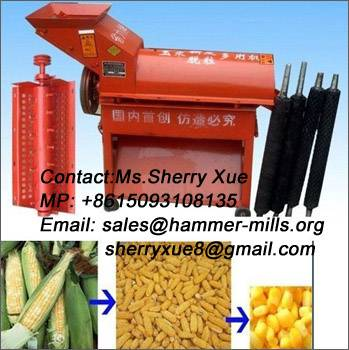 Popular corn cob skin remover and sheller,maize thresher AWE006
