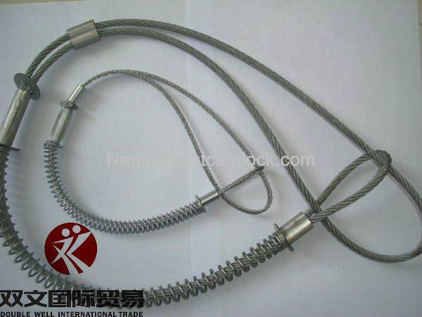 steel plated Whip check safety cable