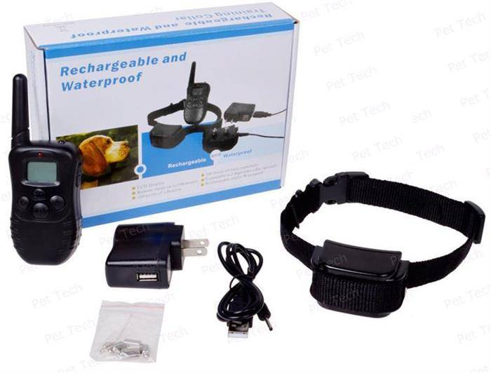 Rechargeable & Waterproof 100 Level Shock, Vibration Remote Dog Training Collar (P-998DR)