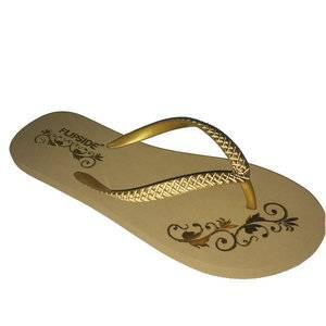 stamp gold slipper
