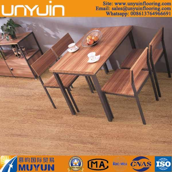 Wood Pattern Comercial or Residential PVC Tile Vinyl Floor