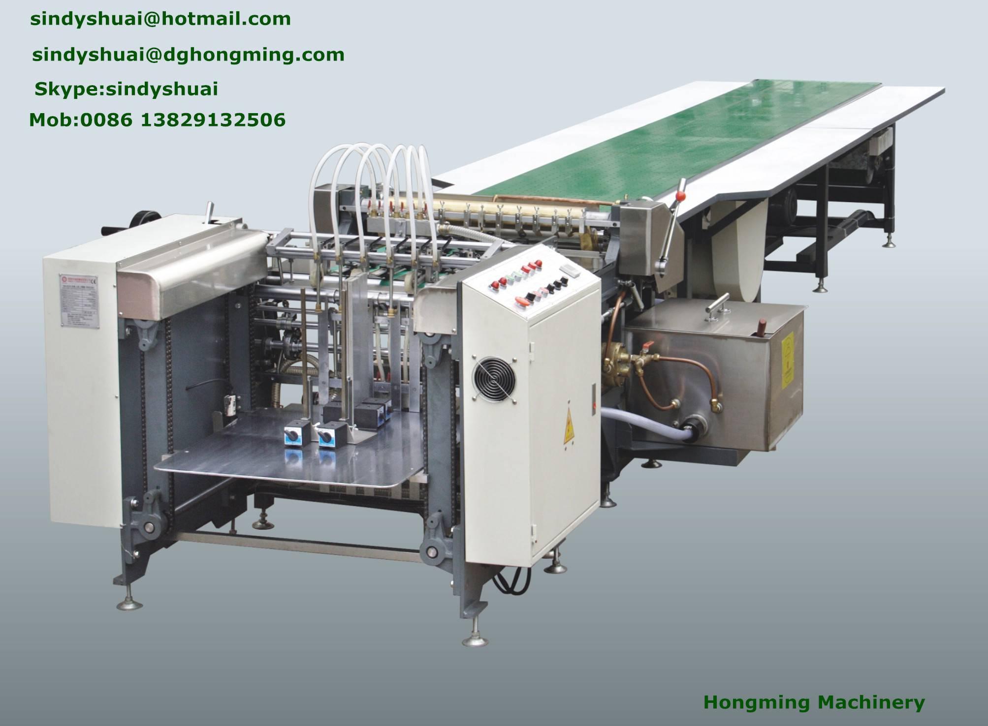 HM-650A Automatic Gluing machine(Feeder By Feida)