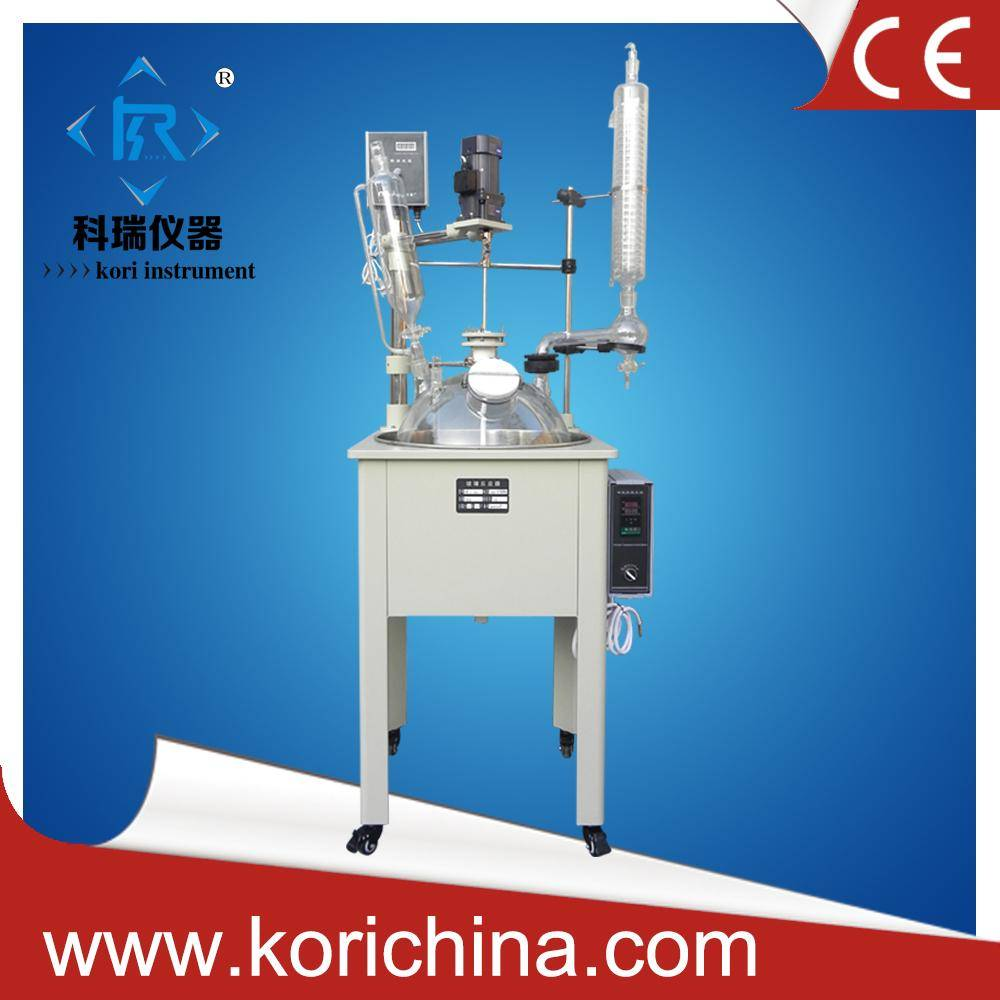 Laboratory Equipment Manufacturer sell 50l Single lined glass reactor with anti-explosion