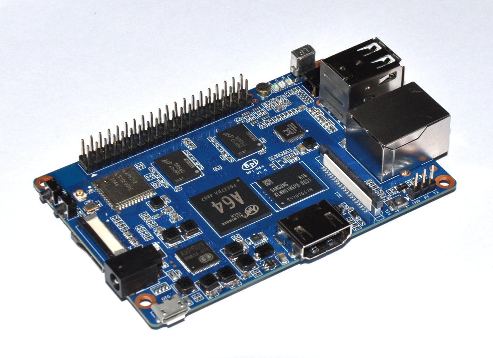 64-bit quad-core mini single board computer BPI-M64 Banana Pi M64