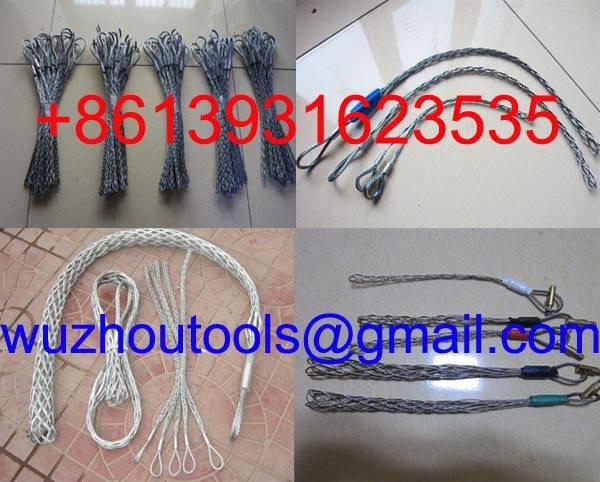 Single-head, double strand cable socks