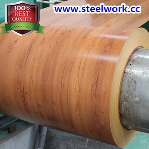 PPGI Color Coated Wooden Grain Pattern Steel Coil (CC-14)