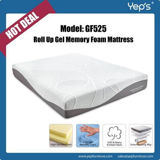 Hot Sell Roll Up Cool Gel Memory Foam Mattress