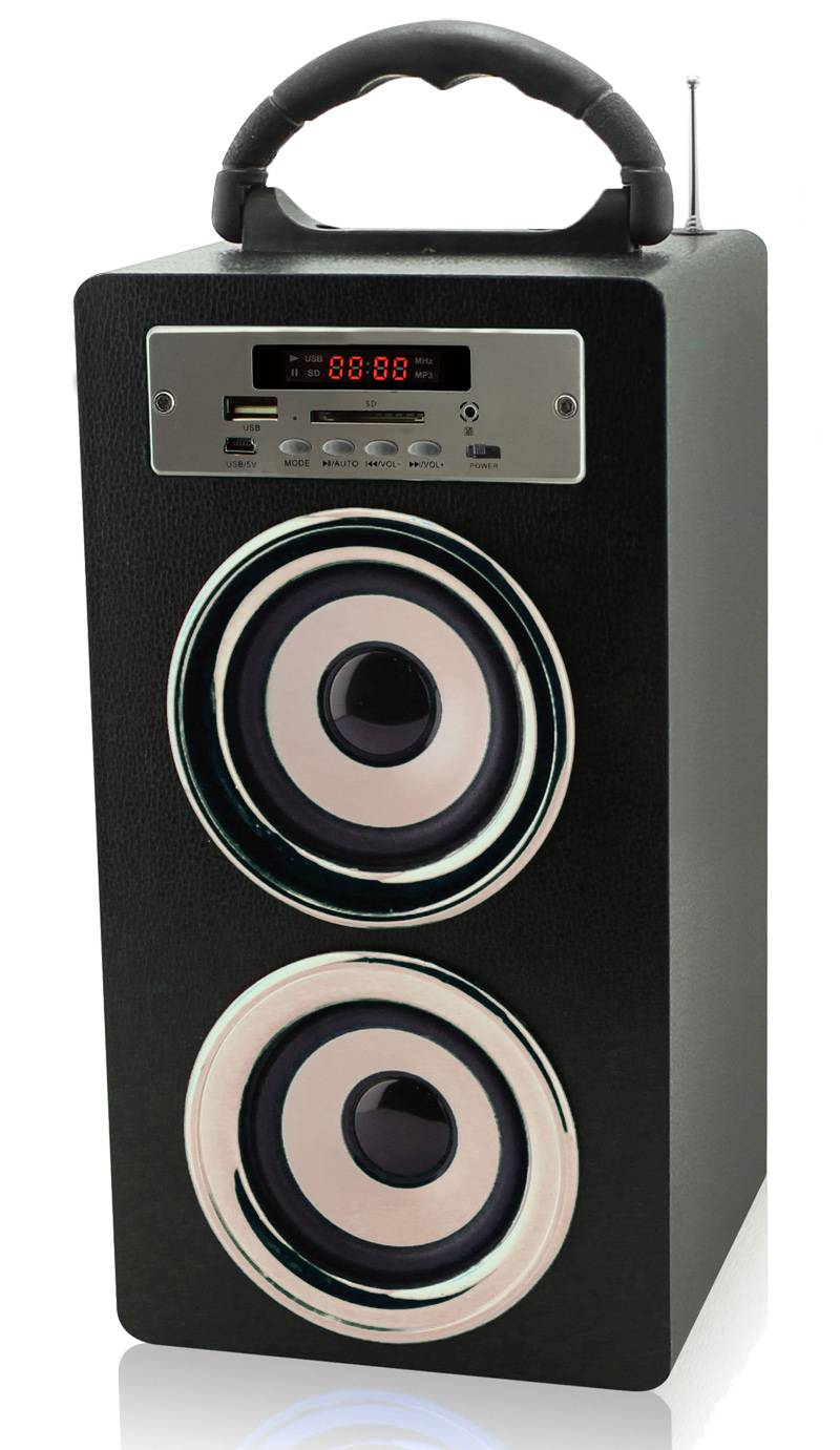 wooden speaker with  Support PC audio input, SD and USB card, FM Radio function,BLUETOOTH function