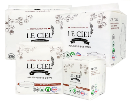 Leciel Certified 100% Organic Cotton cover Sanitary Pads