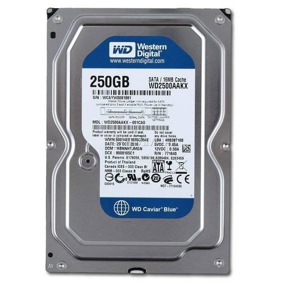"""Western Digital WD2500AAKX WD Caviar Blue 250GB Internal HDD 3.5"""" Desktop Hard Drive Disk"""