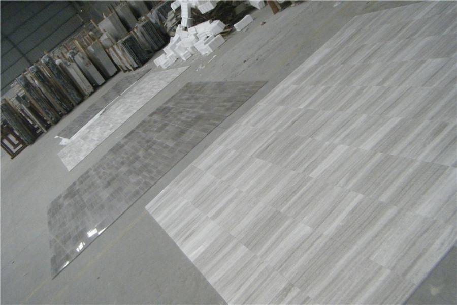Wooden White Vein Marble Slabs & Tiles
