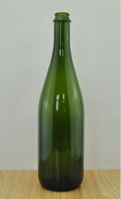 factory price champagne glass bottle with cork best price