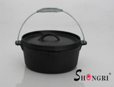 SRO51 Shengri Cast Iron Dutch Oven Cookware Vegetables Oil Outdoor Pot