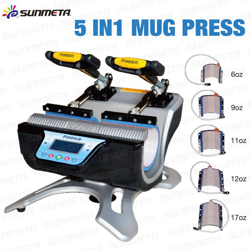 mini double-station mug printer heat press machine