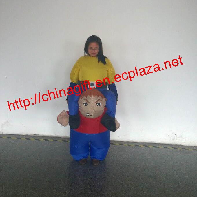 150cm inflatable strength boy costume