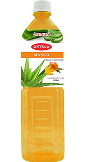 Mango Aloe Vera Juice with Pulp Okeyfood in 1.5L Bottle