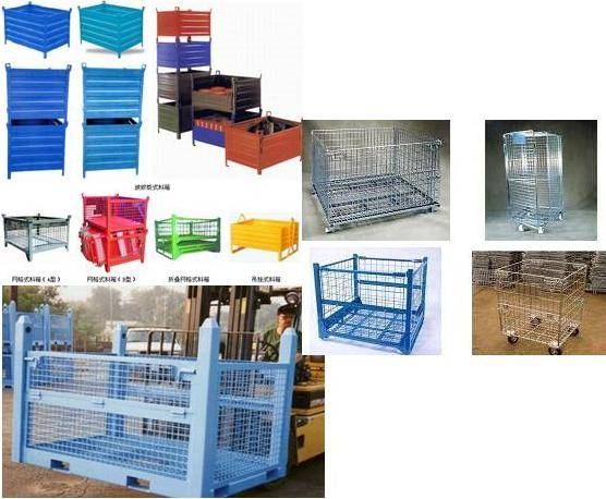 Storage wire mesh pallet container