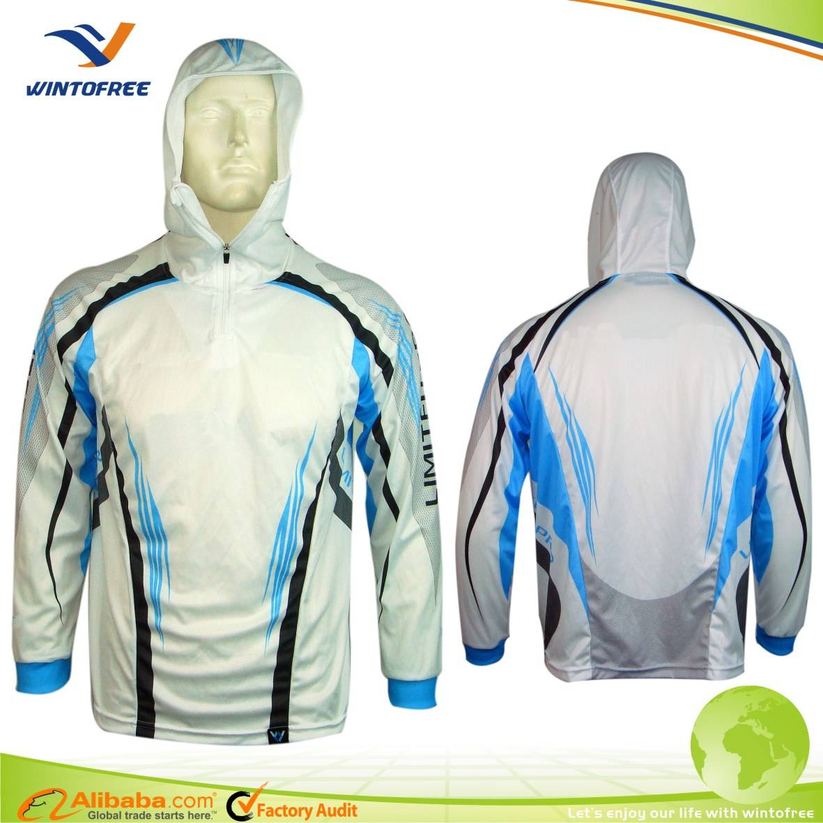 Long Sleeves Sublimation Fishing tournament jersey