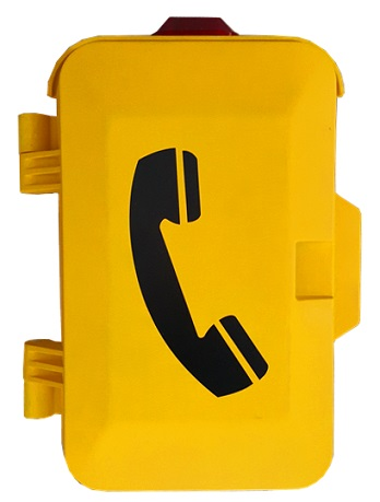 Industrial waterproof telephone, impact resistant, weatherproof emergency telephone