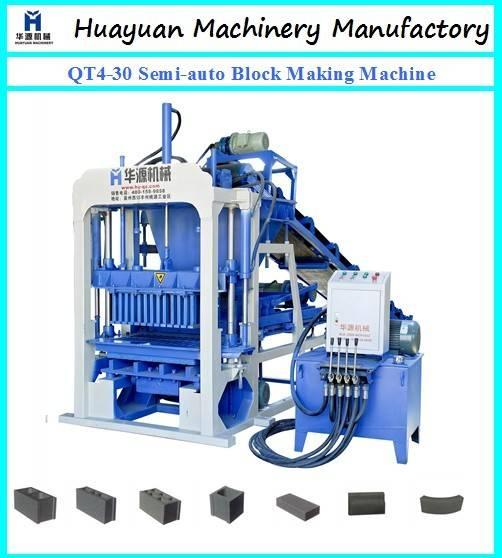 Semi-automatic cement block making machine QT4-30