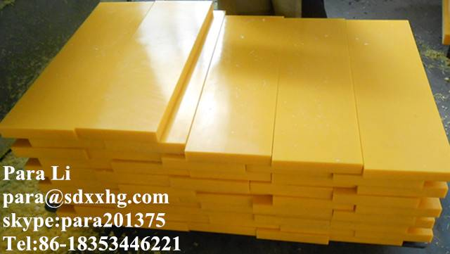 Cheap price for 30mm uhmwpe block YELLOW