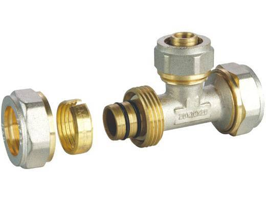 Brass Pipe Fittings with Nickel-plated Finish, Available in Various Sizes