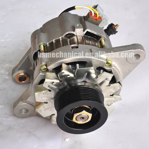 ISUZU 4HK1 engine alternator, ISUZU 4HK1 excavator alternator, engine alternator for 4HK1