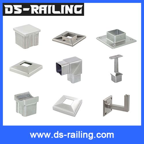 China manufacturer Cs04 50.8mm / 38.1mm aluminium square pipe fittings