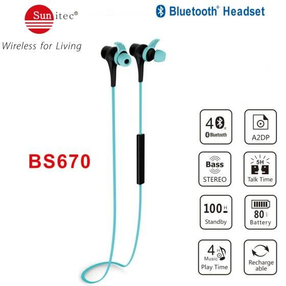Bluetooth Wireless Exercise Headphones for sports