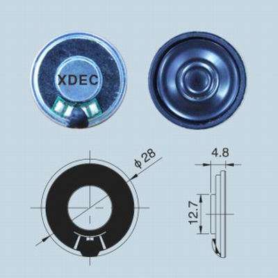 28mm water ripples diaphragm mylar speaker 8ohm 0.5W