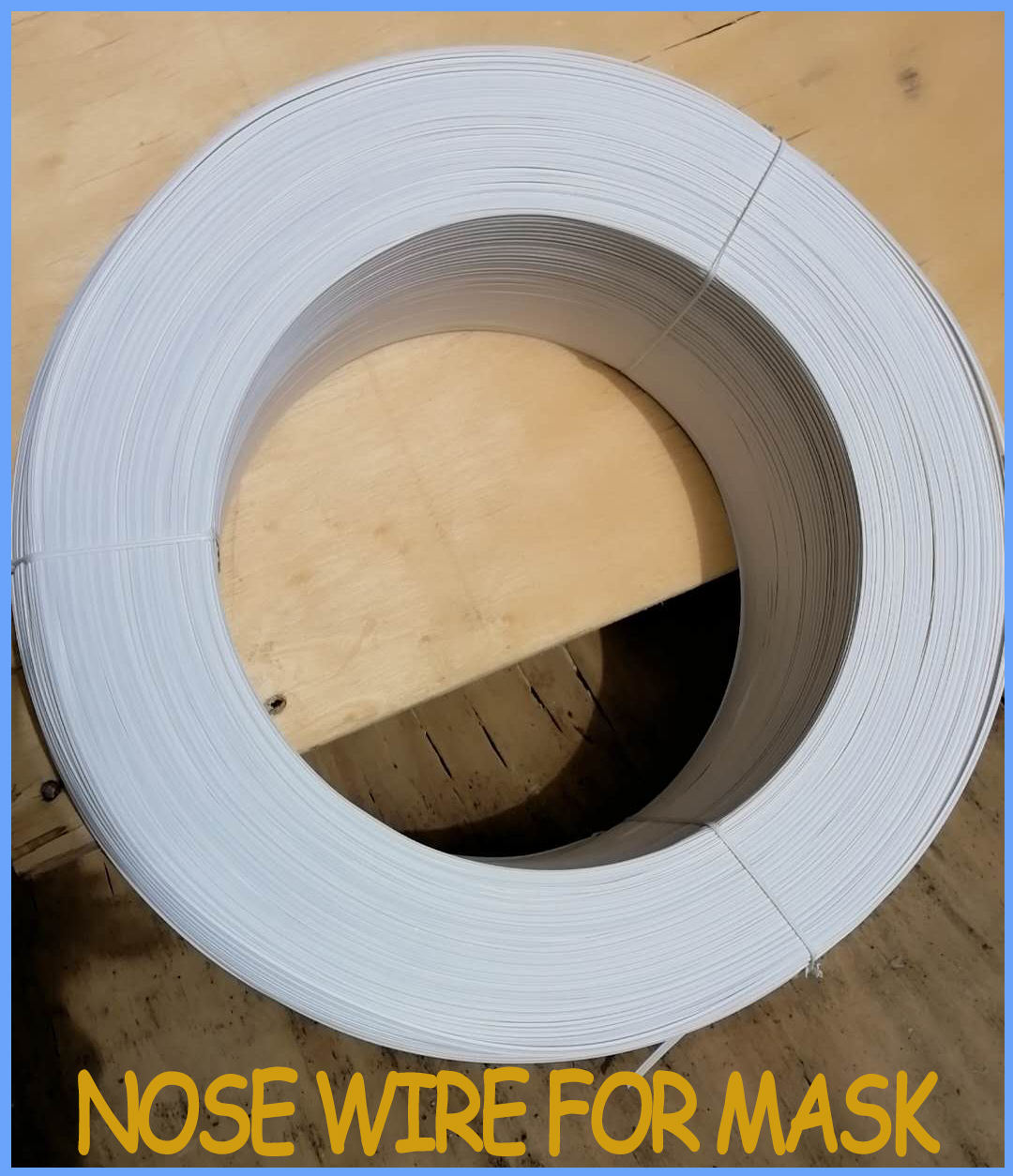 Manufacturer supply PE nose wire single core plastic+metal 3mm