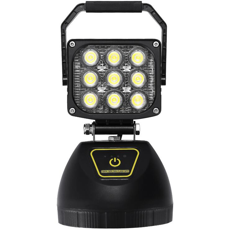 Portable Rechargeable LED Scene/Area Work Light w/Magnetic Base