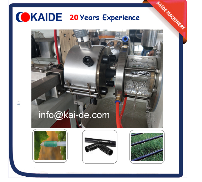 cylinder inline round drip irrigation pipe making machine